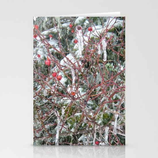 Iced Berries Stationery Cards