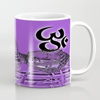om Mugs featuring OM by Enri-Art