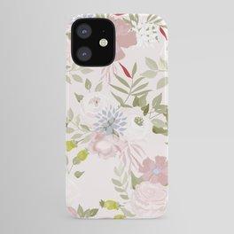 Watercolour Flower Pattern iPhone Case