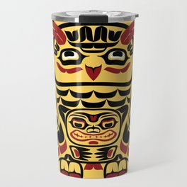 Owl, North-American art stylization Travel Mug