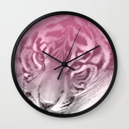 Tiger - Pink Wall Clock