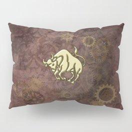Steampunk Zodiac  Taurus Pillow Sham