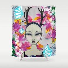 Fawn Woodland Gal Shower Curtain