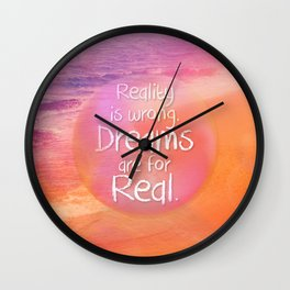 Beach Waves IV - Dreams and Reality Wall Clock
