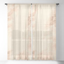 Bronze marble texture Sheer Curtain