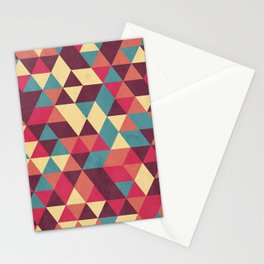 TRIANGLES RED Stationery Cards