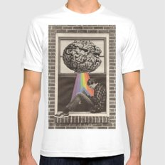 Knowledge is Power Mens Fitted Tee SMALL White