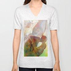 The kiss of the angel Unisex V-Neck