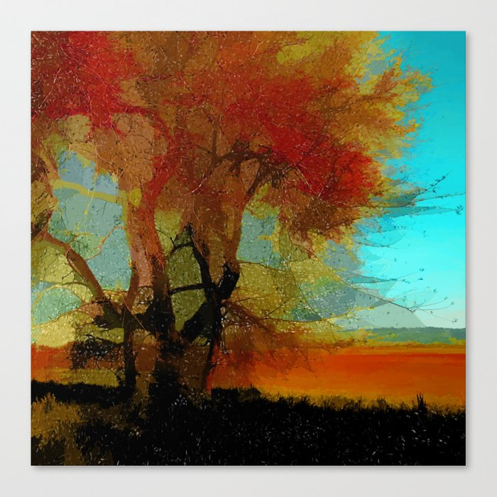 Red Tree Leinwanddruck