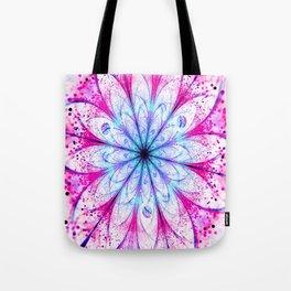 Winter Pink glittered Snowflake Tote Bag