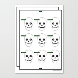 Type Skull Canvas Print