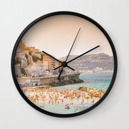 Summer - Beach - Marseille - France Wall Clock
