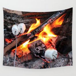 Roasting Marshmellows Wall Tapestry
