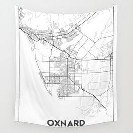 Minimal City Maps - Map Of Oxnard, California, United States Wall Tapestry