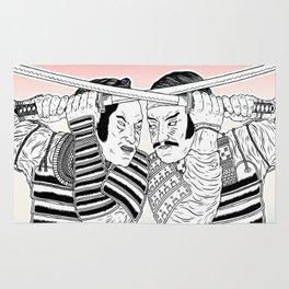 Samurai Duel Rug