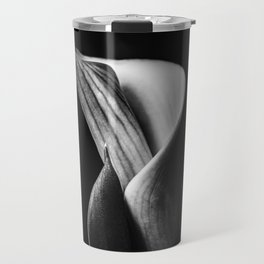 Calla Lily flower, Black and white fine-art photography  Travel Mug