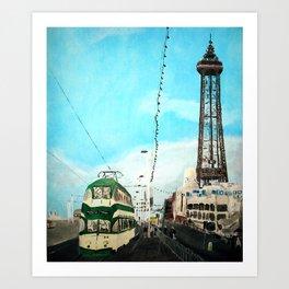 Blackpool Lancashire England Acrylic Fine Art Art Print