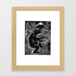 Bear Dancer Framed Art Print