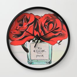 Perfume No5 Flower Vase Wall Clock