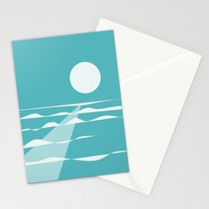 Ocean View with Full Moon Stationery Cards