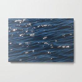 Deep Blue Shimmering Water Metal Print