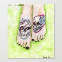 feet Canvas Prints featuring feet by musentango87