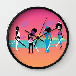 Samurai Sisters Wall Clock