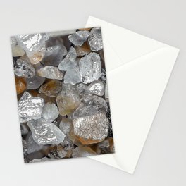 Singing beach sand under a microscope Stationery Cards