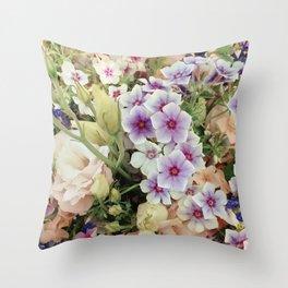 Vibrant Bouquet Throw Pillow