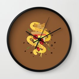 Pizza Is A Vegetable Wall Clock