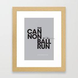 The Cannonball Run - Aston Martin DB5 Framed Art Print