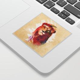 Gym Lion Sticker