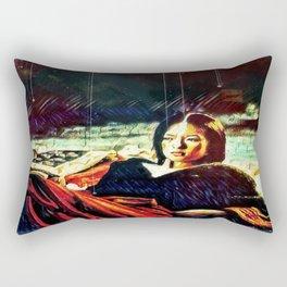 By Firelight Rectangular Pillow