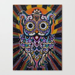 Radiant Owl. Canvas Print