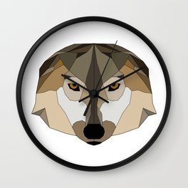 Low Poly Wolf - Animals Wall Clock