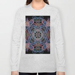 Mandala Water Dissolving into Earth Long Sleeve T-shirt