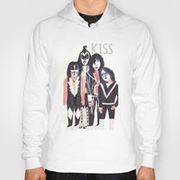 kiss Hoodies featuring KISS by Angela Dalinger
