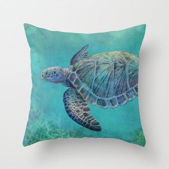 Deep Blue Throw Pillows : Deep Blue Throw Pillow by Eric Fan Society6