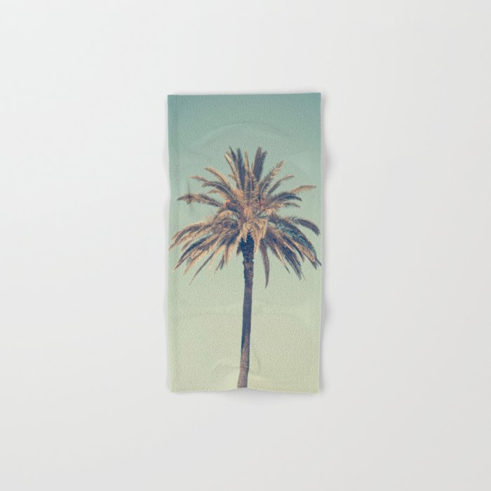 Retro Palm Tree Hand Bath Towel