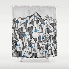- fresque_02 - Shower Curtain