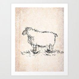 Let it sheep Art Print