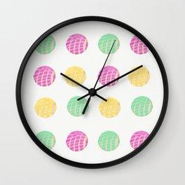 Mexican pan dulce conchas Wall Clock
