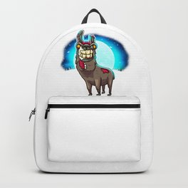Gross Zombie Beast Possibly A Former Llama Scary Backpack