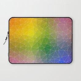 Triangulated Rainbow Background Pattern Laptop Sleeve