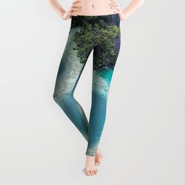 the blue hole in coron Philippines Leggings