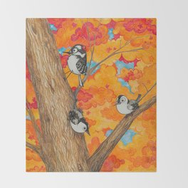 Fall: Two Nuthatches and a Downy Throw Blanket