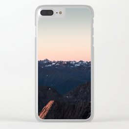 Peaceful sunrise over the Alps Clear iPhone Case