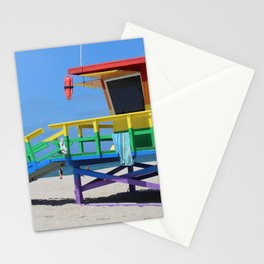 Rainbow Lifeguard Stand (Venice, California) Stationery Cards