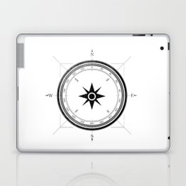 Black Compass on White Laptop & iPad Skin