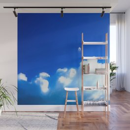 Starship breaking clouds Wall Mural